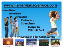Wir vermitteln, vermieten oder verkaufen Ihre Ferien Unterkunft    Ferienhaus, Ferienwohnung, Strandhaus, Bungalow, Villa, CouchSurfing